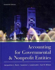 Accounting for Governmental and Nonprofit Entities 16th Edition 9780078110931 0078110939