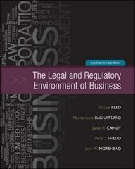 The Legal and Regulatory Environment of Business 16th edition 9780073524993 0073524999