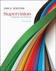 Supervision 10th Edition 9780078023170 0078023173