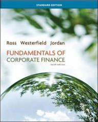 Fundamentals of Corporate Finance Standard Edition 10th edition 9780078034633 0078034639