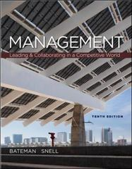 Management 10th edition 9780078029332 0078029333