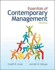 Essentials of Contemporary Management 5th edition 9780078029349 0078029341