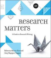 Research Matters 2nd Edition 9780073405940 0073405949