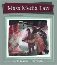 Mass Media Law 18th Edition 9780073526188 0073526185