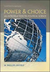 Power & Choice 13th Edition 9780073526362 0073526363