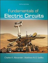 Fundamentals of Electric Circuits 5th Edition 9780073380575 0073380571