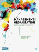 Management and Organisation 2nd edition 9780230522213 0230522211