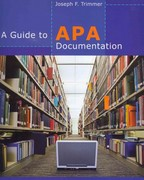 A Guide to APA Documentation 1st Edition 9780840030108 084003010X