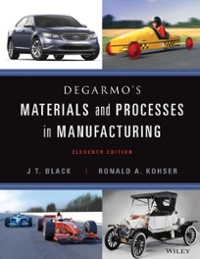 DeGarmo's Materials and Processes in Manufacturing 11th Edition 9781118163733 1118163737