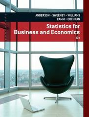 Statistics for Business & Economics 12th Edition 9781133274537 1133274536