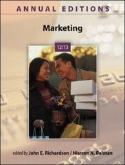 Annual Editions: Marketing 12/13 35th edition 9780073528700 0073528706
