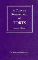 Concise Restatement of Torts 2nd Edition 9780314932204 0314932208