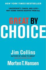 Great by Choice 1st Edition 9780062120991 0062120999