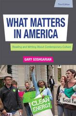 What Matters in America 3rd Edition 9780205230747 0205230741