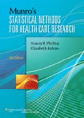 Munro's Statistical Methods for Health Care Research 6th Edition 9781451115611 145111561X