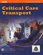 Critical Care Transport 1st Edition 9781449642587 1449642586