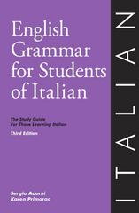 English Grammar for Students of Italian 3rd Edition 9780934034401 0934034400