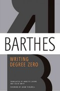 Writing Degree Zero 1st Edition 9780374532352 0374532354