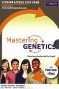 MasteringGenetics with Pearson eText -- Standalone Access Card -- for Concepts of Genetics 10th edition 9780321751010 0321751019