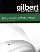 Gilbert Law Summaries on Legal Research, Writing, and Analysis 11th Edition 9780314276186 0314276181