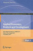 Applied Economics, Business and Development 0 9783642230226 3642230229