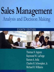 Sales Management 8th edition 9780765626400 0765626403