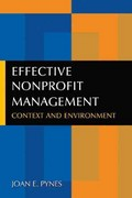 Effective Nonprofit Management 0 9780765630308 0765630303