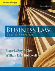 Cengage Advantage Books: Business Law 7th Edition 9781133625957 1133625959