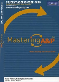 MasteringA&P -- Standalone Access Card -- for Human Anatomy, Media Update 6th Edition 9780321765093 0321765095