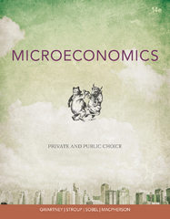 Coursebook for Gwartney's Microeconomics: Private and Public Choice 14th edition 9781133561668 1133561667