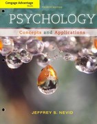 Cengage Advantage Books: Psychology 4th edition 9781133310273 1133310273