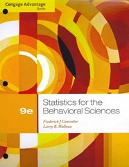 Cengage Advantage Books: Statistics for the Behavioral Sciences 9th edition 9781111835767 1111835764