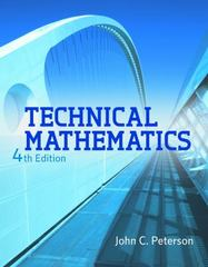 Technical Mathematics 4th Edition 9781111540463 1111540462