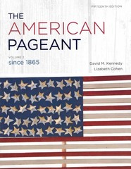 The American Pageant 15th edition 9781111831431 1111831432
