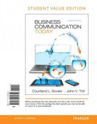 Business Communication Today, Student Value Edition 11th edition 9780132539654 0132539659