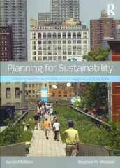 Planning for Sustainability 2nd Edition 9780415809894 0415809894