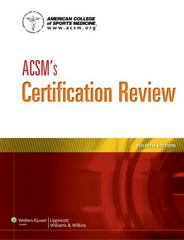 ACSM's Certification Review 4th Edition 9781609139544 1609139542