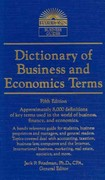 Dictionary of Business and Economic Terms 5th Edition 9780764147579 0764147579