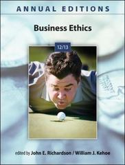 Annual Editions: Business Ethics 12/13 24th Edition 9780073528724 0073528722