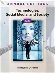 Annual Editions: Technologies, Social Media, and Society 12/13 18th edition 9780073528731 0073528730