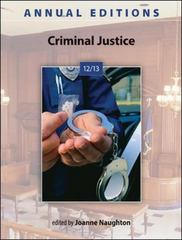 Annual Editions: Criminal Justice 12/13 36th edition 9780078051272 0078051274