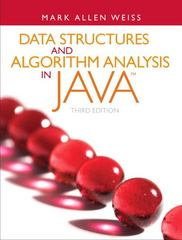 Data Structures and Algorithm Analysis in Java 3rd Edition 9780132576277 0132576279