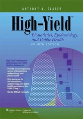 High-Yield Biostatistics, Epidemiology, and Public Health 4th Edition 9781451130171 1451130171