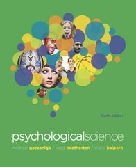 Psychological Science 4th Edition 9780393912760 0393912760