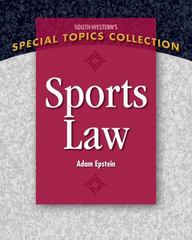 Sports Law 1st Edition 9781111971663 1111971668