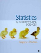 BUNDLE: Privitera: Statistics for the Behavioral Sciences + Privitera: Student Study Guide to Accompany Statistics for the Behavioral Sciences 1st Edition 9781452216911 1452216916