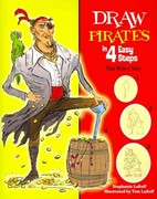 Draw Pirates in 4 Easy Steps 0 9781464400124 1464400121