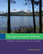 The Legal Environment of Business 5th edition 9781256159162 1256159166