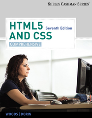 HTML5 and CSS 7th Edition 9781285414294 1285414292