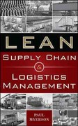Lean Supply Chain and Logistics Management 1st Edition 9780071766265 007176626X